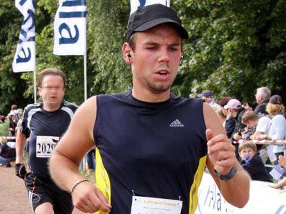 Andreas Lubitz, en un maratón en septiembre de 2009.