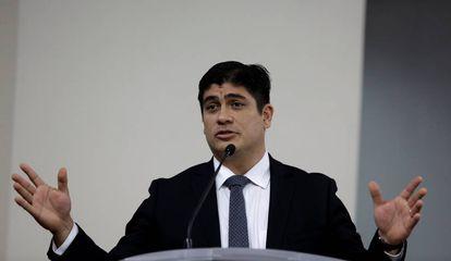 El presidente electo de Costa Rica, Carlos Alvarado.
