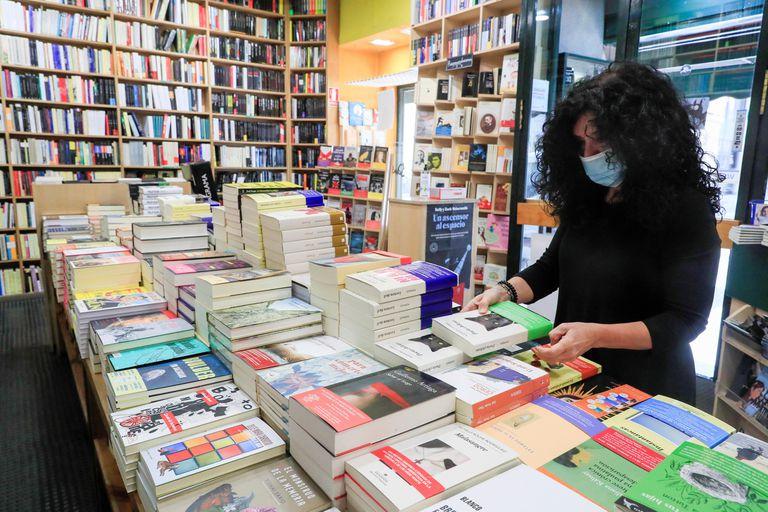 Inside the Antonio Machado bookstore, in Madrid, last Wednesday.