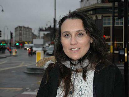 Cristina López, ayer en Londres.