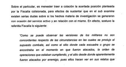 Detalle de la resolución sobre el homicidio de Jair Tobías Mendoza y Néstor Enrique Mendoza.