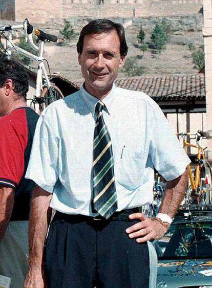 Gregorio Moreno, en una carrera ciclista en septiembre de 2005.