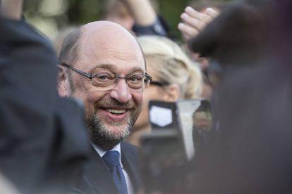 El candidato socialdemócrta alemán, Martin Schulz, a su llegada a un acto electoral en Hamburgo, al norte de Alemania.