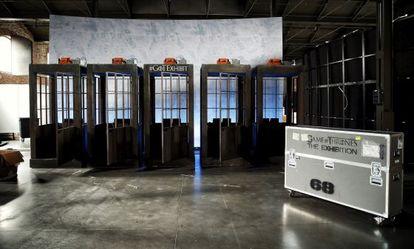 Las cabinas en las que tiene lugar la experiencia de realidad virtual en la que se recrea el ascenso al Muro.