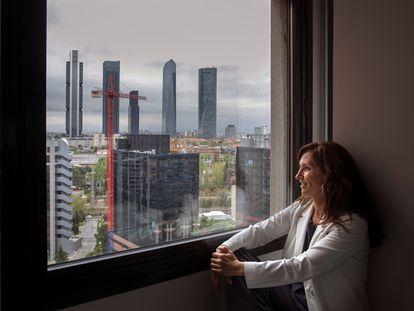 La candidata de Más Madrid a las elecciones autonómicas del 4 de mayo, Mónica García, este sábado en Madrid.