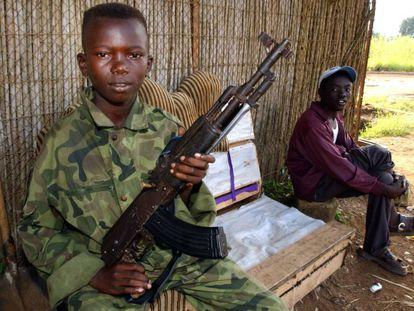 Menor soldado.