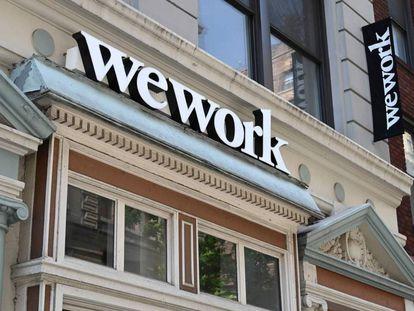 Imagen de unas oficinas de WeWork en Nueva York, el pasado julio.