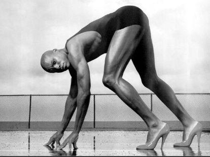 El atleta Carl Lewis, visto por Leibovitz.