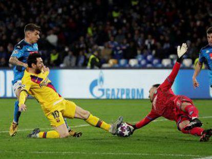 Un gol de Griezmann en la única jugada de mérito alivia a los azulgrana en un partido que mostró el extravío del equipo de Setién y por el que Messi pasó de puntillas