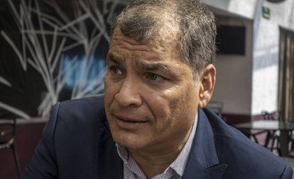 Rafael Correa, durante una entrevista con EL PAÍS en 2019.