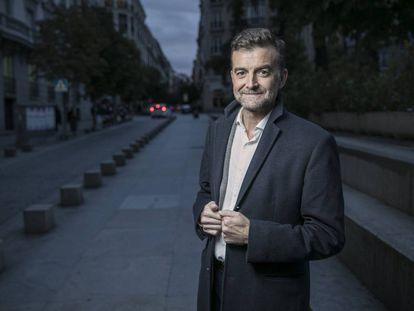 Antonio Maíllo, candidato de Adelante Andalucía a las elecciones, en Madrid.