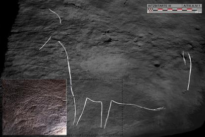 Estos grabados de bisontes datan de hace 27.000 años / O. Rivero y D. Garate