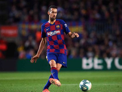 Sergio Busquets, en el partido entre el Barcelona y el Celta.