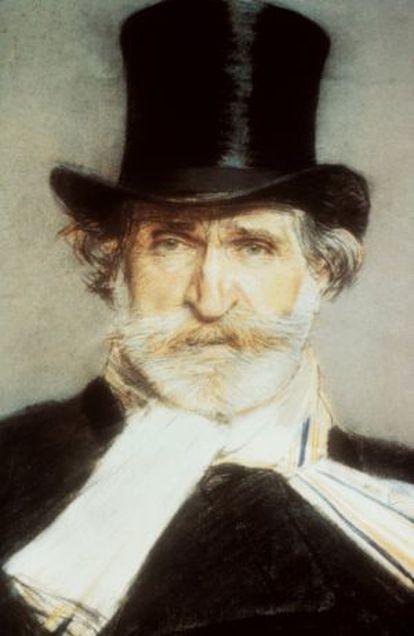 Retrato de Giuseppe Verdi pintado por Giovanni Boldini.