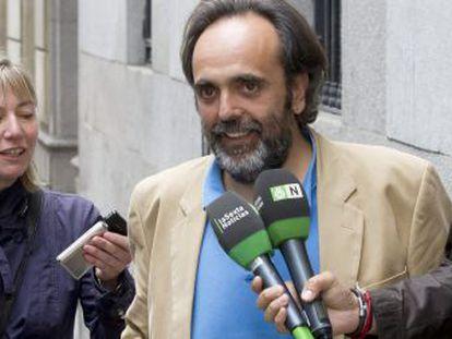 El exalcalde de Majadahonda Guillermo Ortega, a su llegada a la Audiencia Nacional en octubre de 2019.