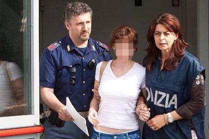 Estíbaliz Carranza, tras ser detenida en Udine (Italia).