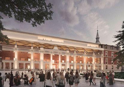 Proyecto de ampliación del Prado en el Salón de Reinos, obra de Foster+Partners y Rubio Arquitectura.