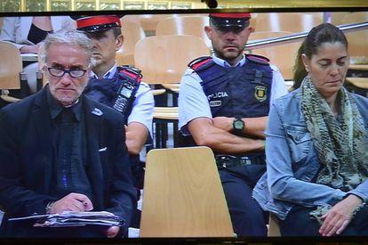 Fernando Blanco y Marga Garau, padres de Nadia, el viernes en el juicio.