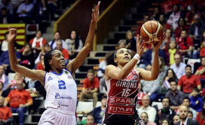 Final de la pasada Liga de baloncesto entre el Girona y el Perfumerías Avenida