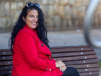 Isabelle Delez, este viernes en Bilbao.