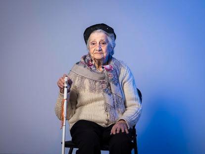 Annette Cabelli, superviviente judía de tres campos de concentración nazis, en Madrid en enero de 2019.