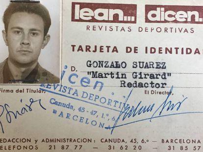 Carnet de prensa de Gonzalo Suárez.