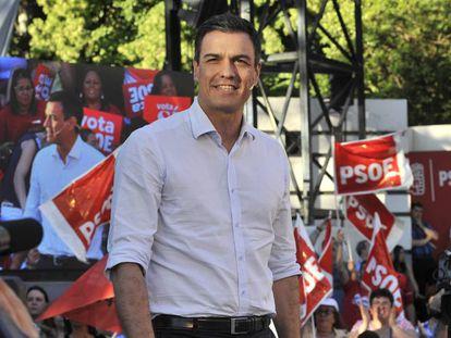 Pedro Sánchez, este miércoles en Albacete.