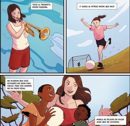 Viñetas de una de las historias de 'Voces que cuentan', que publica Planeta Cómic.