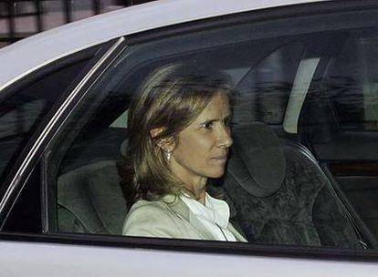 La nueva ministra de Ciencia e Innovación, Cristina Garmendia, ayer, al salir de La Moncloa.