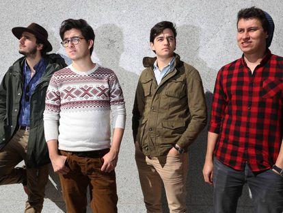 Componentes del grupo musical, Morat.