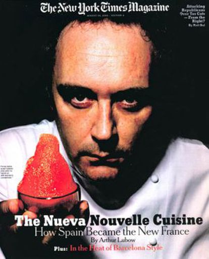 Ferran Adrià, a la portada del 2003.