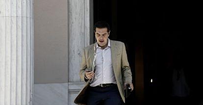 El primer ministro griego, Alexis Tsipras, este viernes en Atenas.