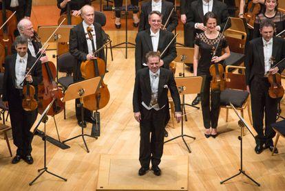Jonathan Nott, con la OSR en el Auditorio de Zaragoza.