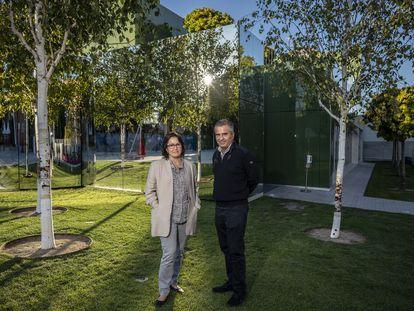 Jose María de Lapuerta y Paloma Campo arquitectos de DL+A, ganadores del Passive House Award Europeo por su diseño de un edificio del colegio Brains en Madrid.