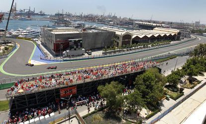 Vista del circuito de Valencia.
