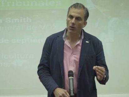El secretario general de Vox, Javier Ortega Smith, durante su intervención el pasado 16 de septiembre. En vídeo, las declaraciones de Ortega Smith acerca de los musulmanes.