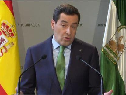Vídeo de la comparecencia del presidente de Andalucía, José Manuel Moreno Bonilla.