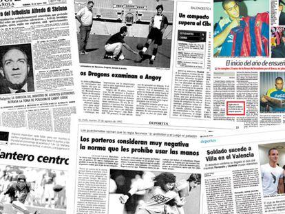 En la imagen, algunas de las noticias veraniegas que quedarán para el recuerdo en la historia fútbol español.