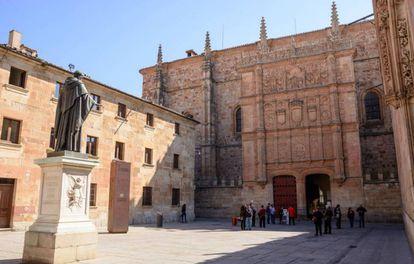 Fachada de la Universidad de Salamanca.