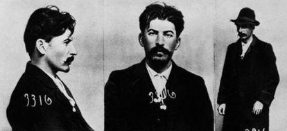 Yoseb Dzhugashvili, Stalin, en unas imágenes de marzo de 1908 tomadas por la policía zarista.