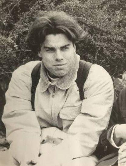Una imagen de Tobias R., en la escuela de Secundaria Hohe Landesschule, de Hanau, en 1996.