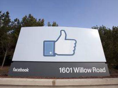 Detalle de la sede de la red social Facebook en Menlo Park, California (EEUU). EFE/Archivo