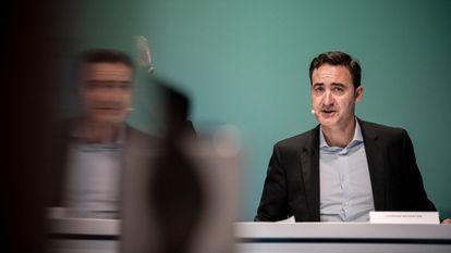 Ferran Reverter, en la presentación de resultados de MediaMarkt en diciembre de 2019 en Düsseldorf.