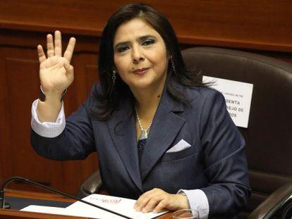 Ana Jara, en agosto de 2014 en el Congreso.