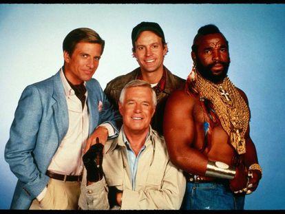 Imagen de los miembros del Equipo A de la serie original.