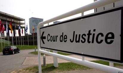 Entrada del Tribunal de Justicia de las Comunidades Europeas en Luxemburgo.