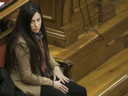 Rosa Peral, durante el juicio en la Audiencia de Barcelona.