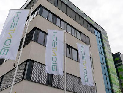 Sede de la empresa alemana BioNTech en Maguncia, al oeste de Alemania.
