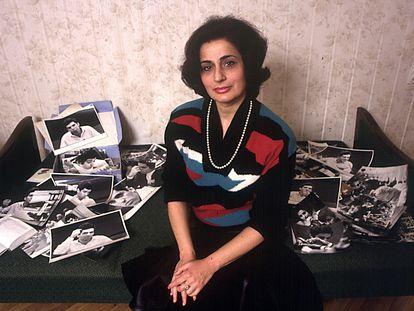 Clara Kasparova posa para una entrevista con EL PAÍS en 1985, en Moscú. / MARÍA MORENO