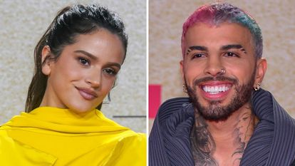 Los cantantes Rosalía y Rauw Alejandro en los premios Billboard Latino 2021, celebrados en Coral Gables, Florida, el 23 de septiembre de 2021.